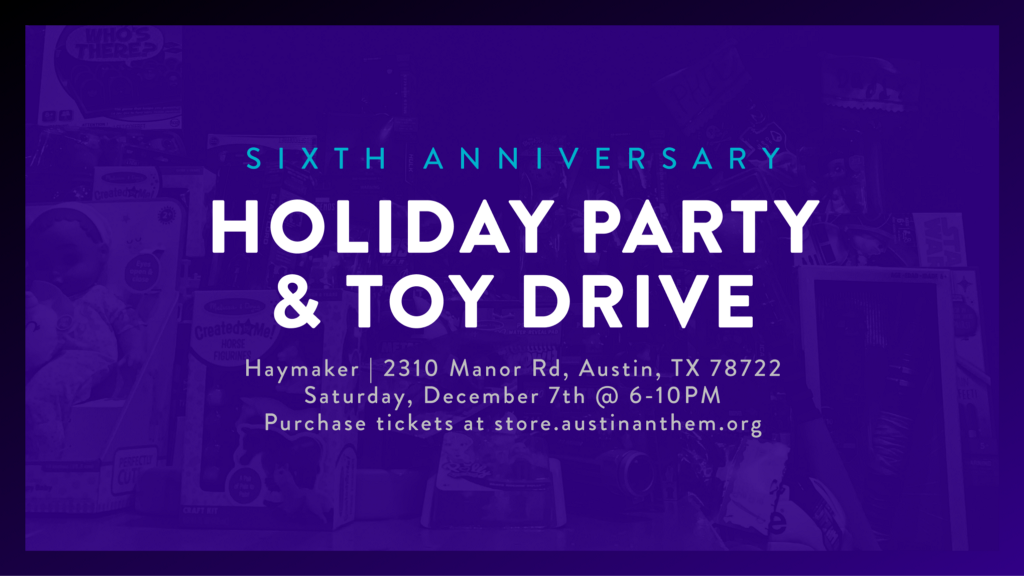 The 2019 Austin Anthem Holiday Party, Toys for Tots Drive, and FIFA Tournament