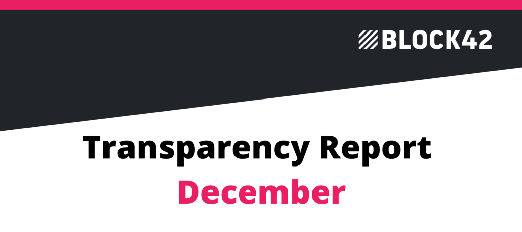 ICON Transparency Report—block42 December 2020
