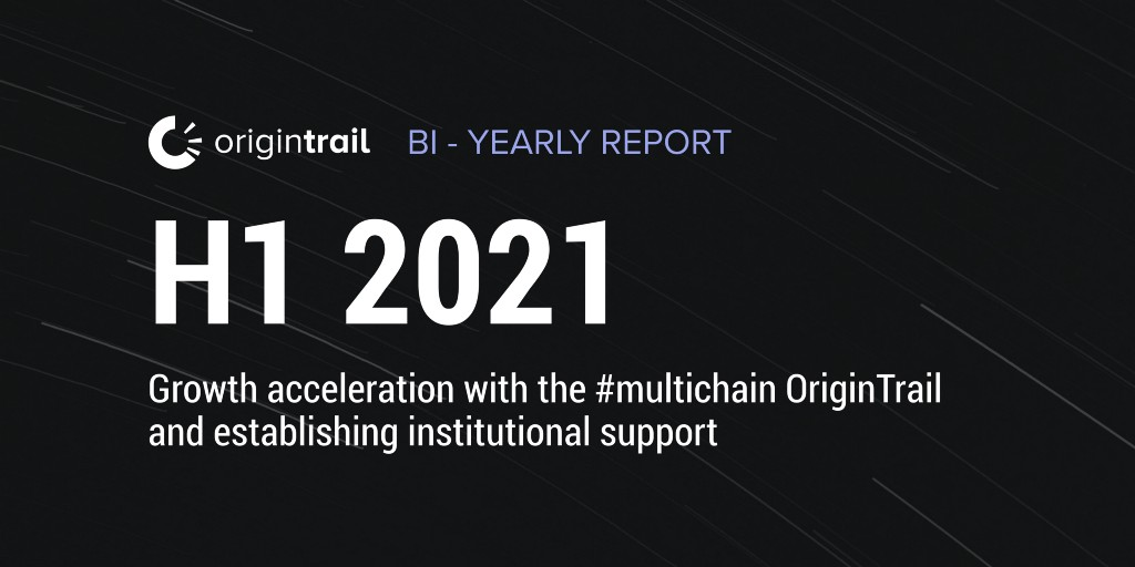 OriginTrail bi-yearly report—H1 2021 | Growth acceleration with the #multichain OriginTrail and…