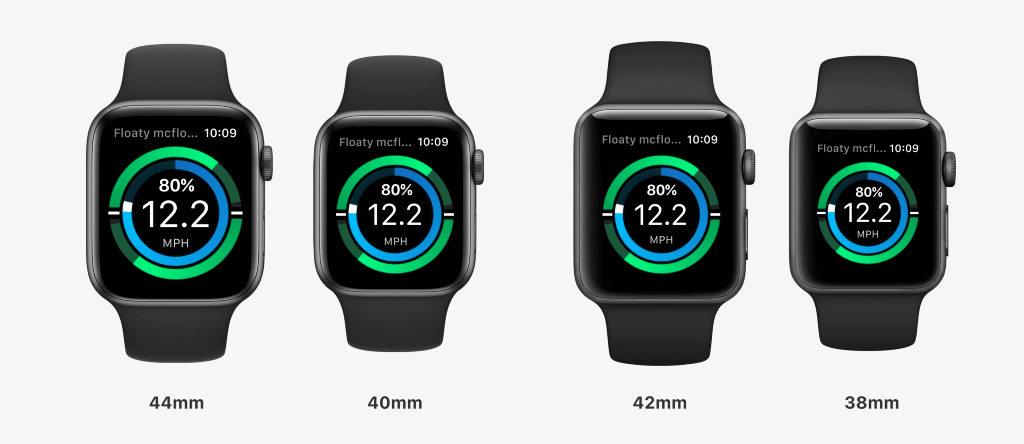 The interface on all four versions of the Apple watch