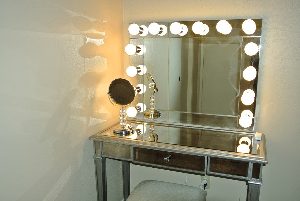 diy lighted vanity mirror.  See Yourself Clearly Lighted Makeup Mirrors Blake Lockwood Medium