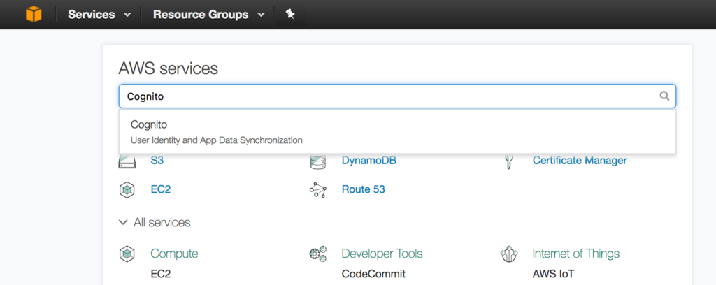 Indywatch feed allcommunity go to aws cognito on the aws console to get started fandeluxe Image collections