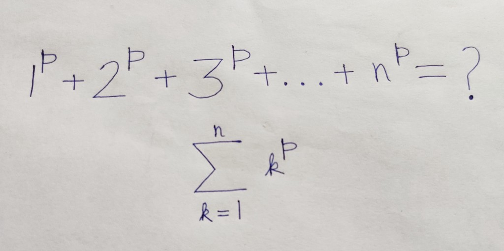 An Elementary Method for Summing the p-th Powers