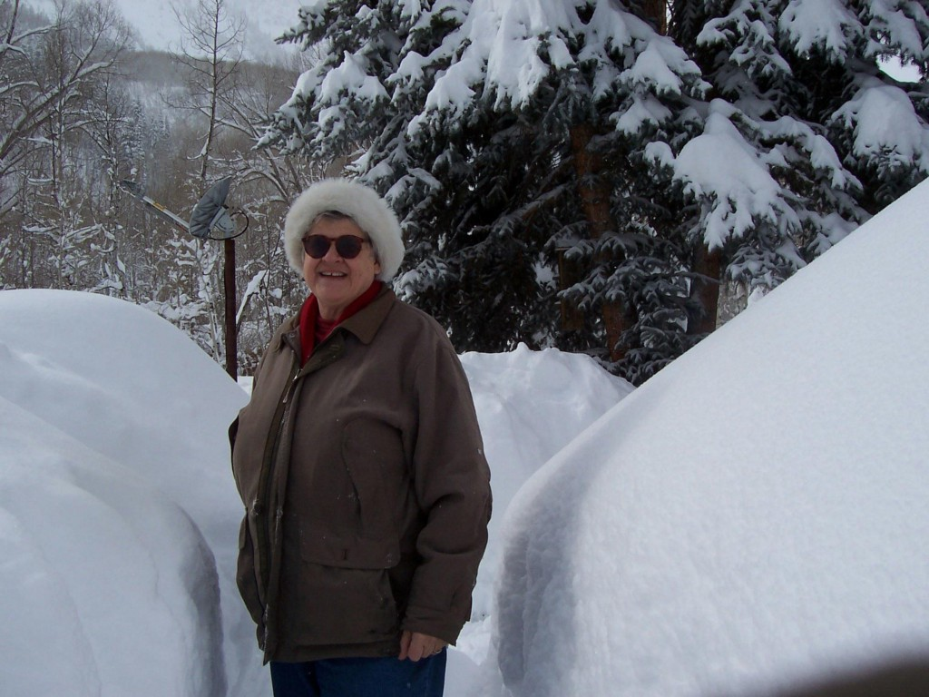 MaryJo Wagner in Marble, Colorado in the winter