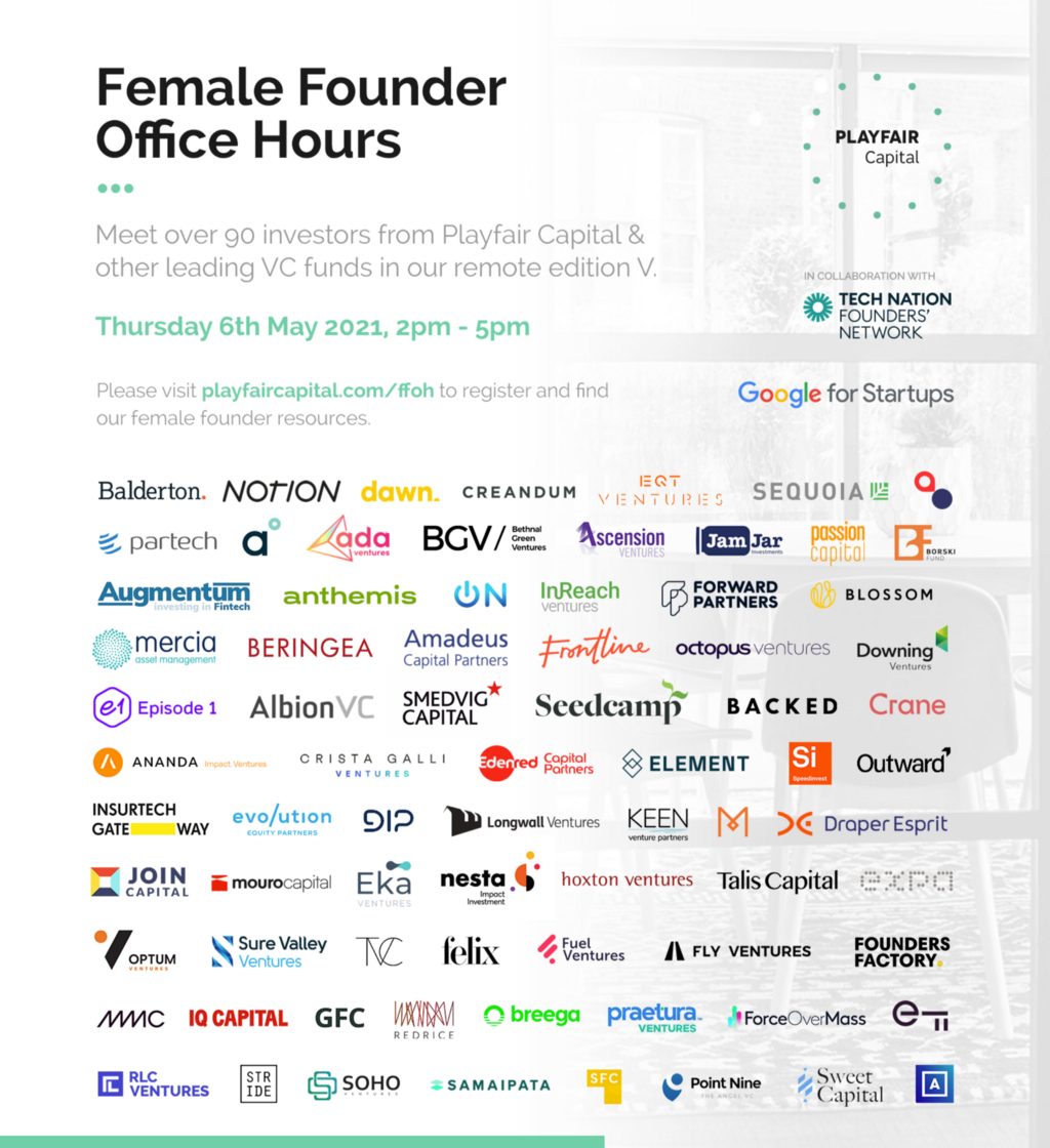 Playfair Capital, Tech Nation & Google for Startups expand initiative to improve access to funding…