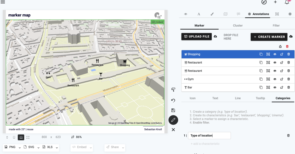 #Howto create locator maps with 23degreees.io   PART 2: Filters and Clusters