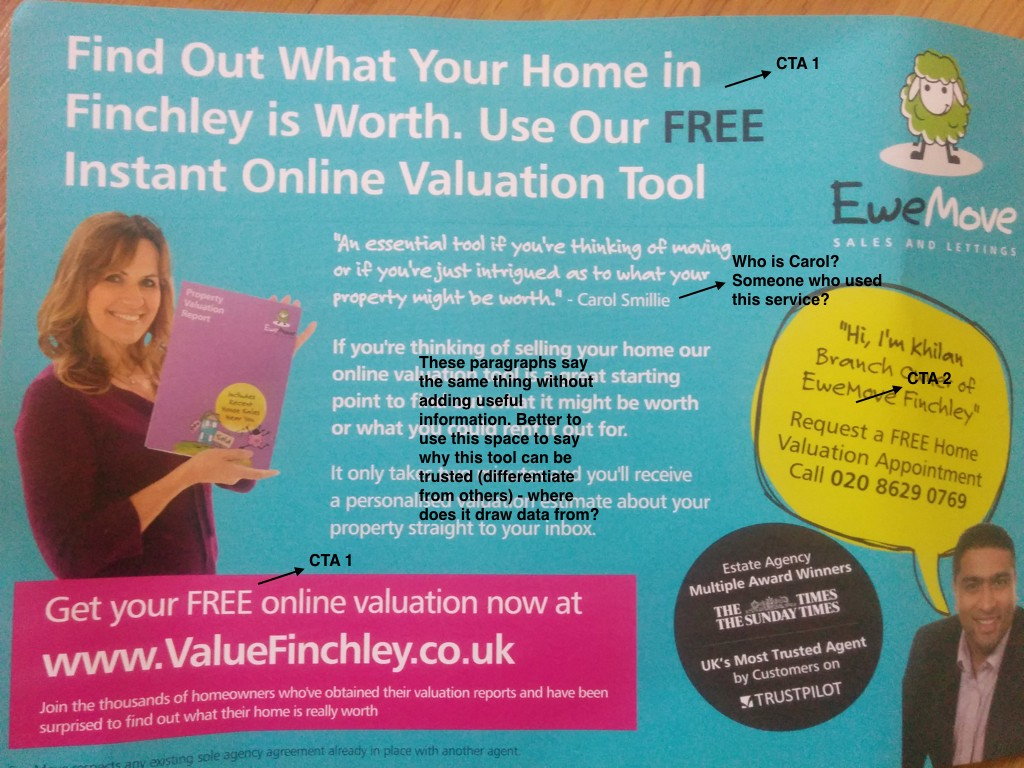home valuation flyer deconstructing product copy medium