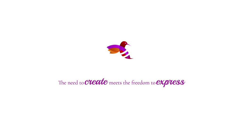 The need to create meets the freedom to express!