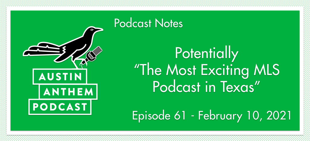 """Podcast: Potentially """"The Most Exciting MLS Podcast in Texas"""""""