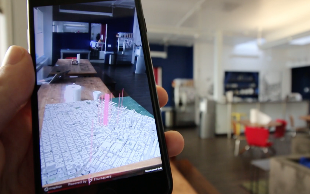 screenshot of Foursquare augmented reality