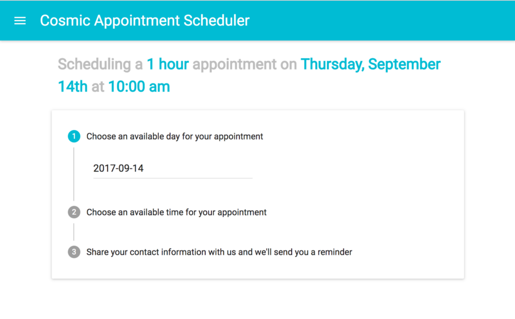 Build an Appointment Scheduler Using React, Twilio and Cosmic JS - By