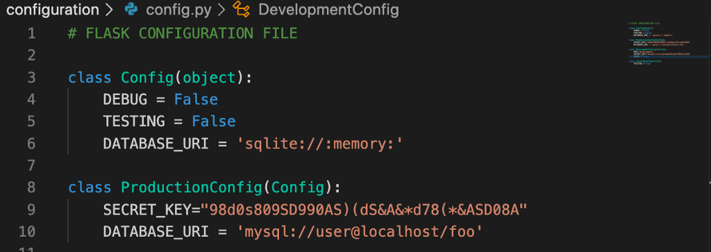 """How and why have a properly """"Configuration Handling File"""" using Flask?"""