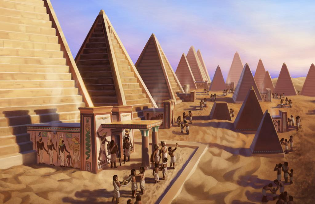 The Kushite pyramids of Meroë