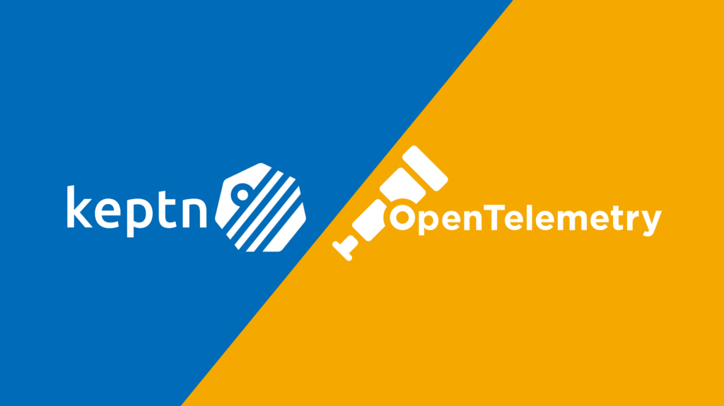 Keptn and OpenTelemetry logos side-by-side