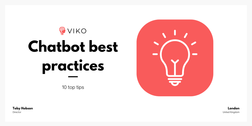 Chatbot best practices - KPIs, validation and more