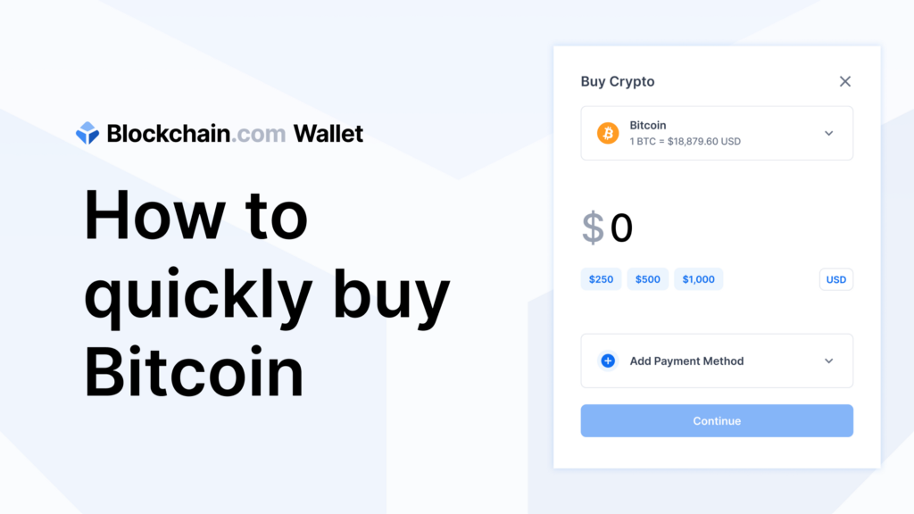 How to quickly buy Bitcoin