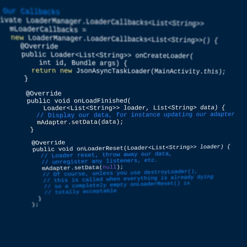 building a dynamic android app requires dynamic data but i hope weu0027ve all moved beyond loading data on the ui thread perfmatters or something like that
