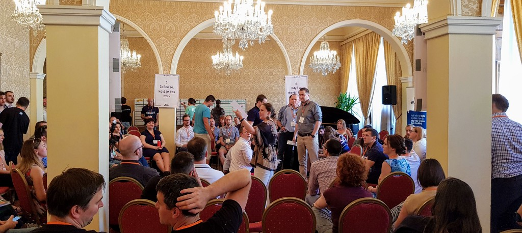 Open Space inAgile uncoference from May 2019, Prague — pitch of topics in progress