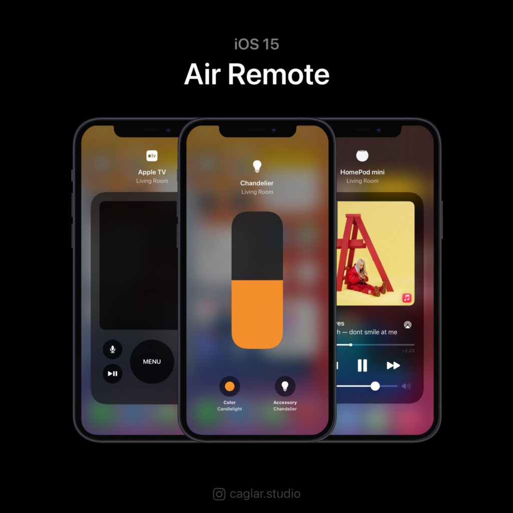 Use air remote to control your Apple TV, HomePod mini, and your lights