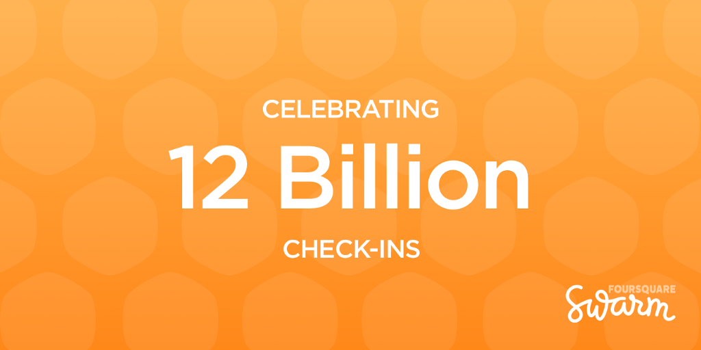 celebrating 12 billion check-in's