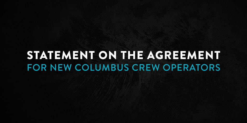 Statement On Agreement for New Columbus Crew Operators
