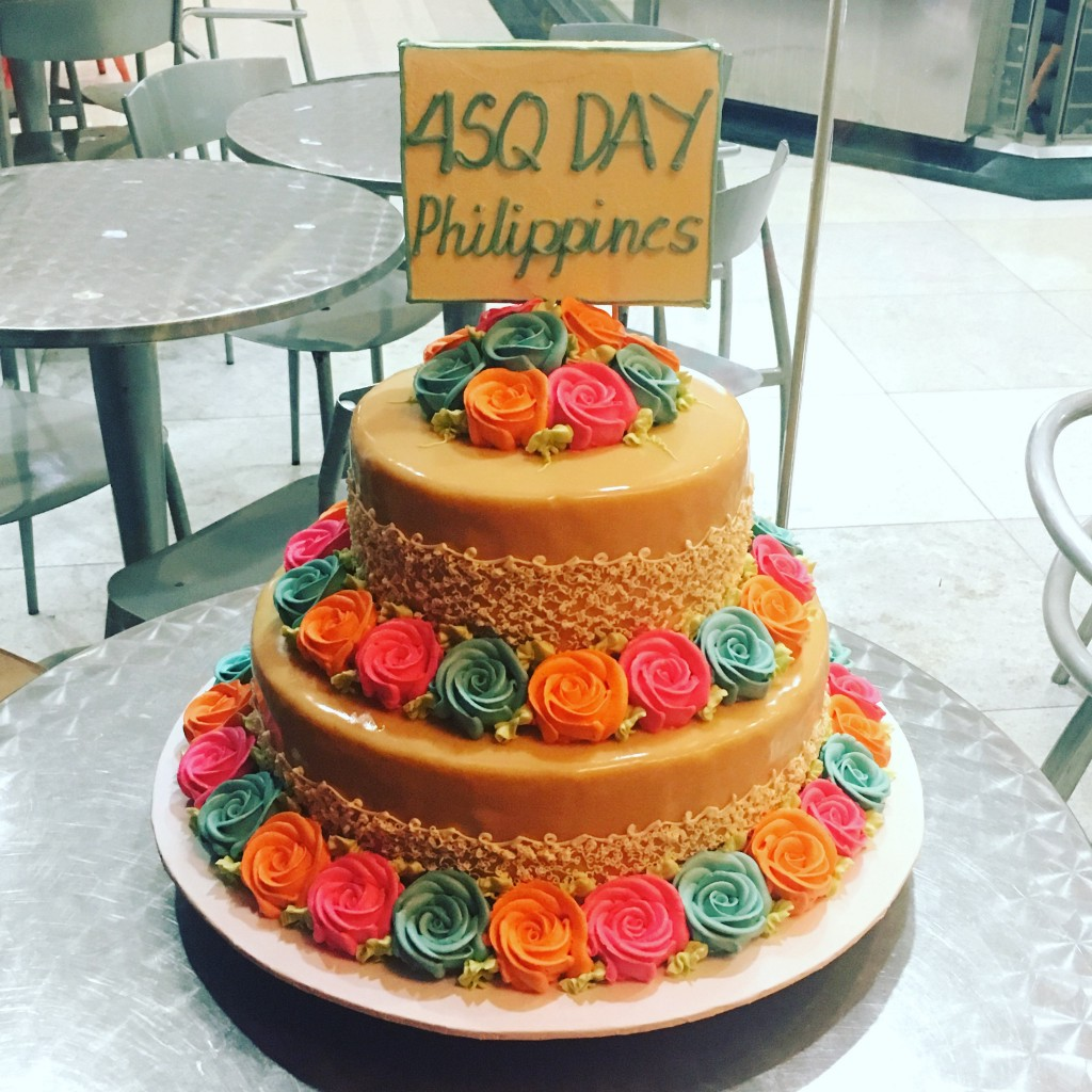 #4SQDay cake in Philippines