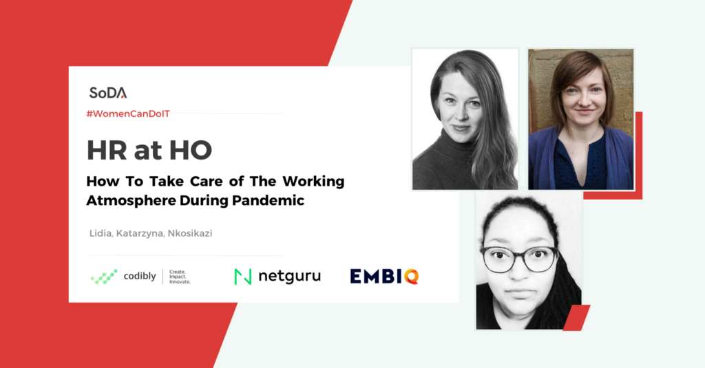 Women Can Do IT: HR at the HO—how to take care of the working atmosphere during a pandemic