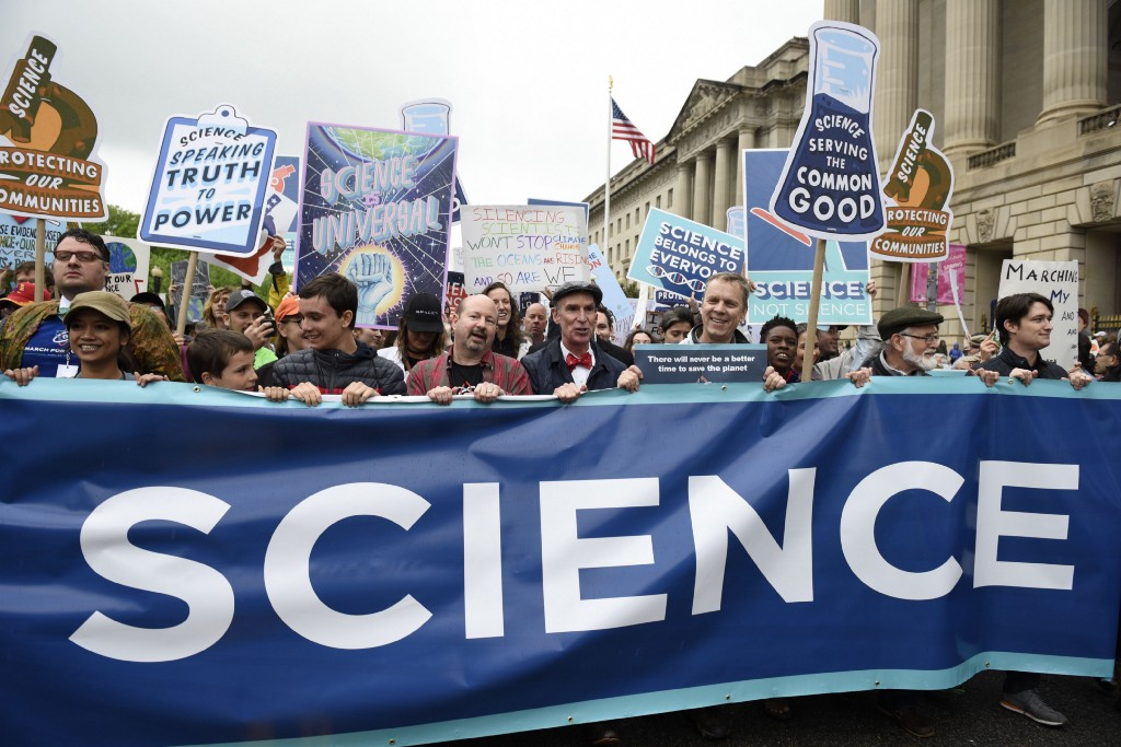 Scientists leave their labs to denounce Trump's resistance to science-based facts