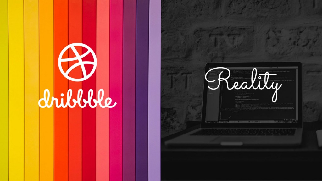 Dribbble inspiration and the reality