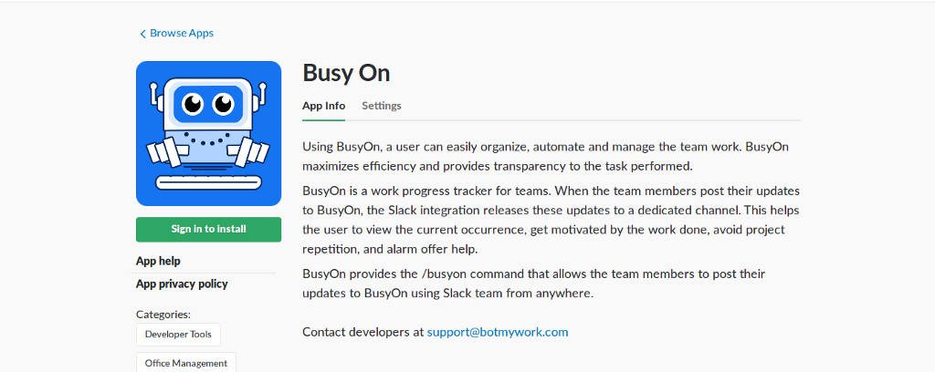 Slack based dashboard to track your daily productivity
