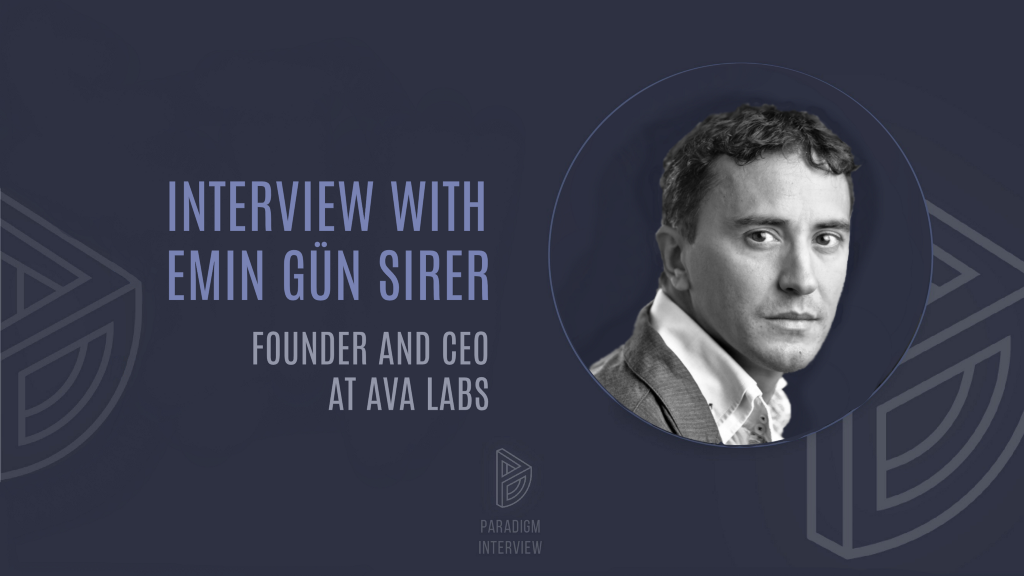 Interview with Emin Gün Sirer—Founder and CEO at Ava Labs