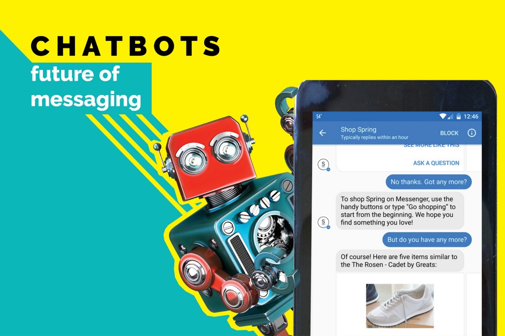 Chatbots showing instant messaging