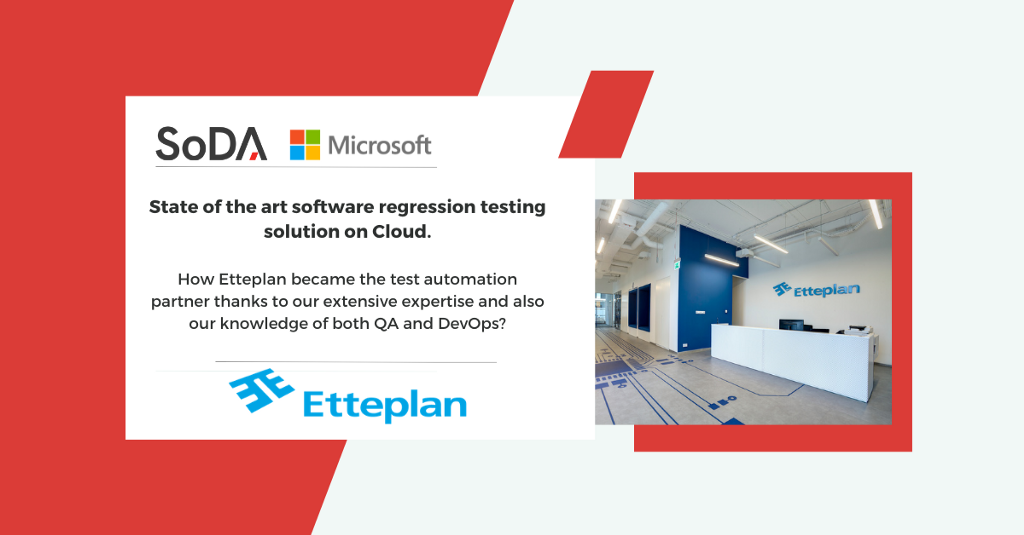 state of the art software regression testing solution on Cloud.