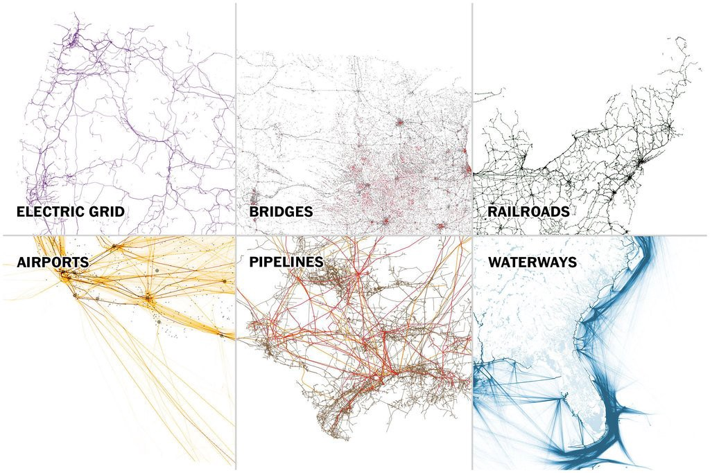 Seven Maps That Show The Anatomy Of Americas Vast Infrastructure - Us navigable waterways map