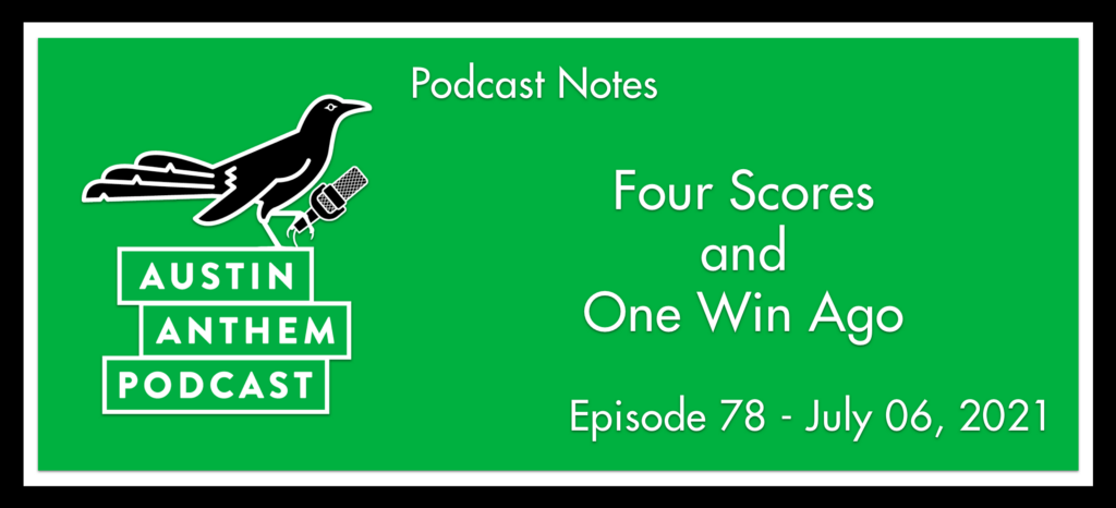 Podcast: Four Scores and One Win Ago