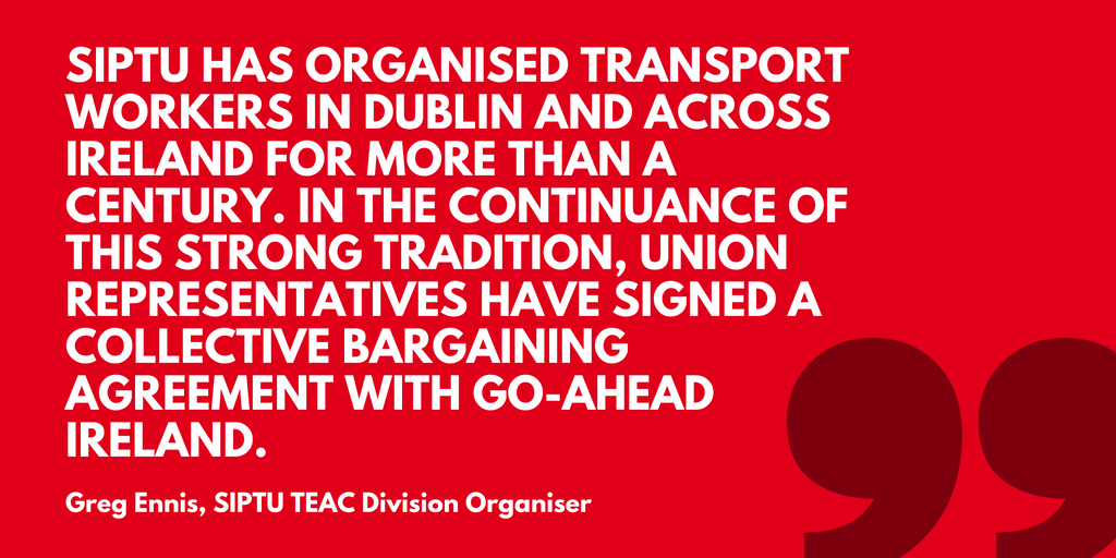 Siptu Signs A Collective Bargaining Agreement With Bus Operator Go