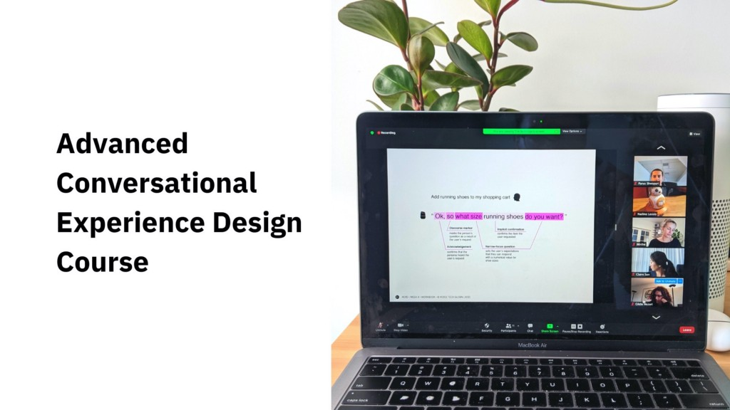 promotional image for VTG's Advanced Conversational Experience Design Course