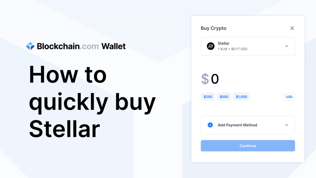 How to quickly buy XLM