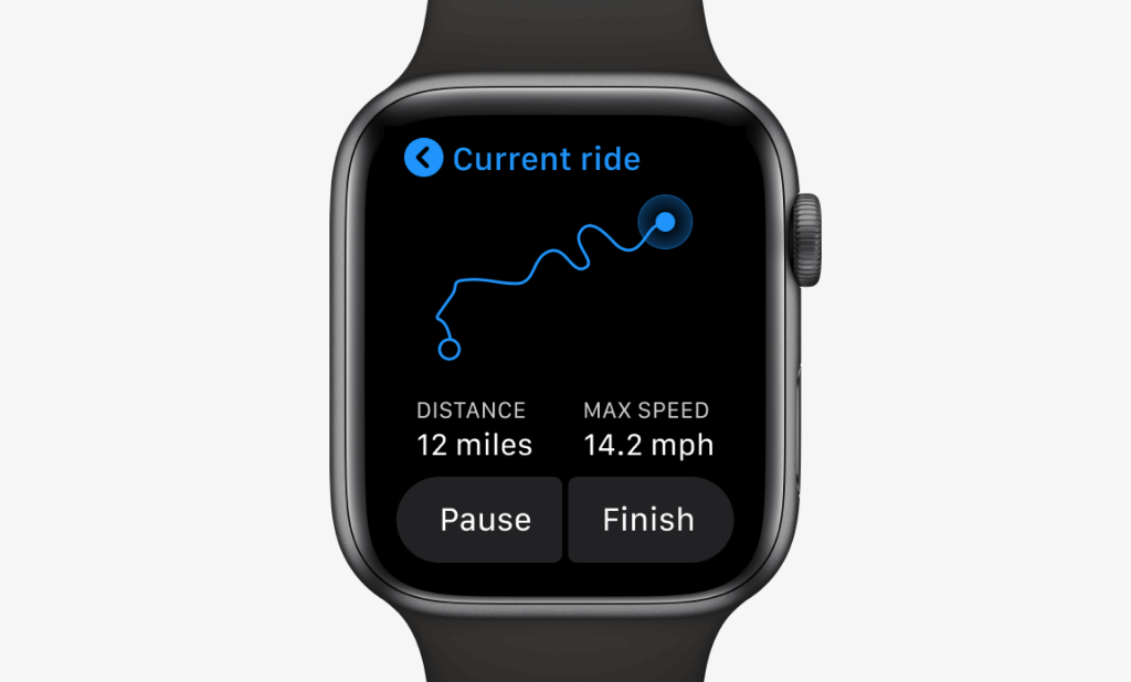Current ride interface