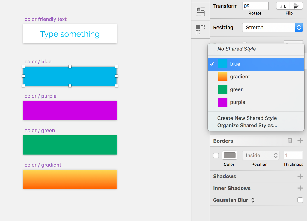 Sketch U201cOverridingu201d The Color Of Text Layers In Symbols. - Prototyping
