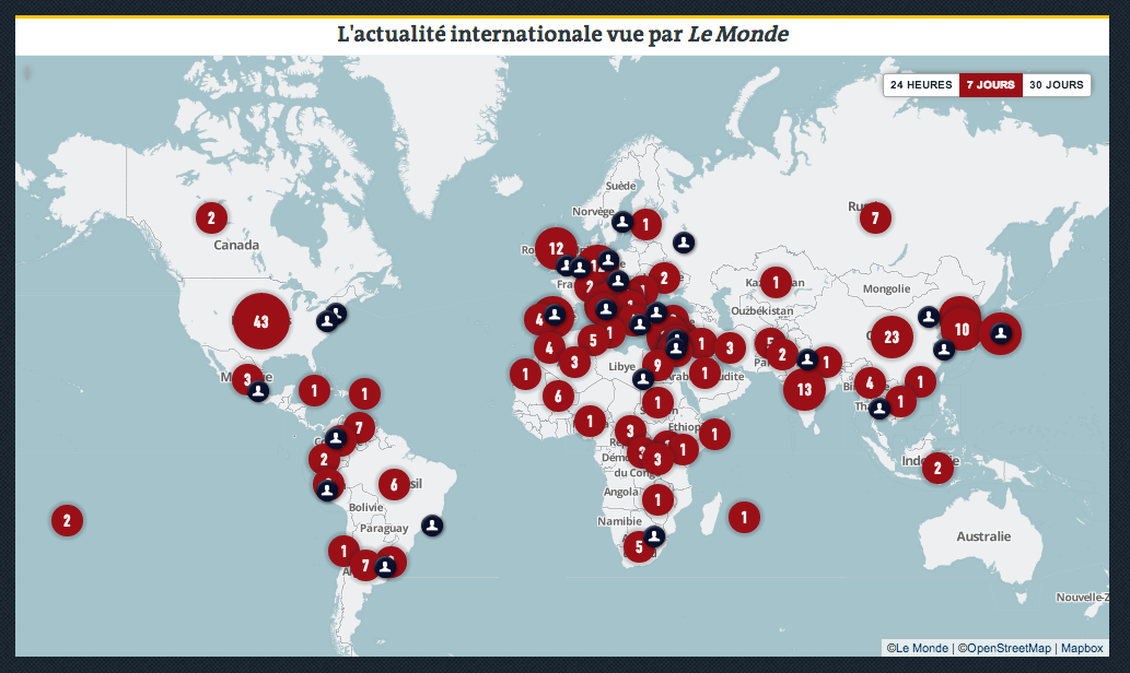 New Le Monde Features MapBox Maps In French Points Of Interest - French maps online