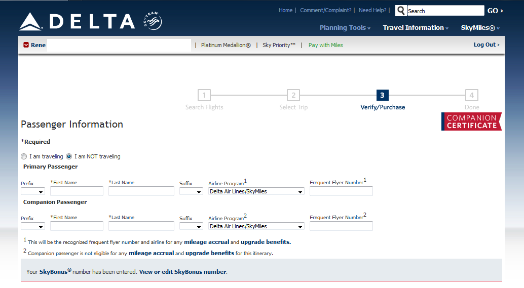 How To Book A Companion Ticket On Delta Travohelps Medium