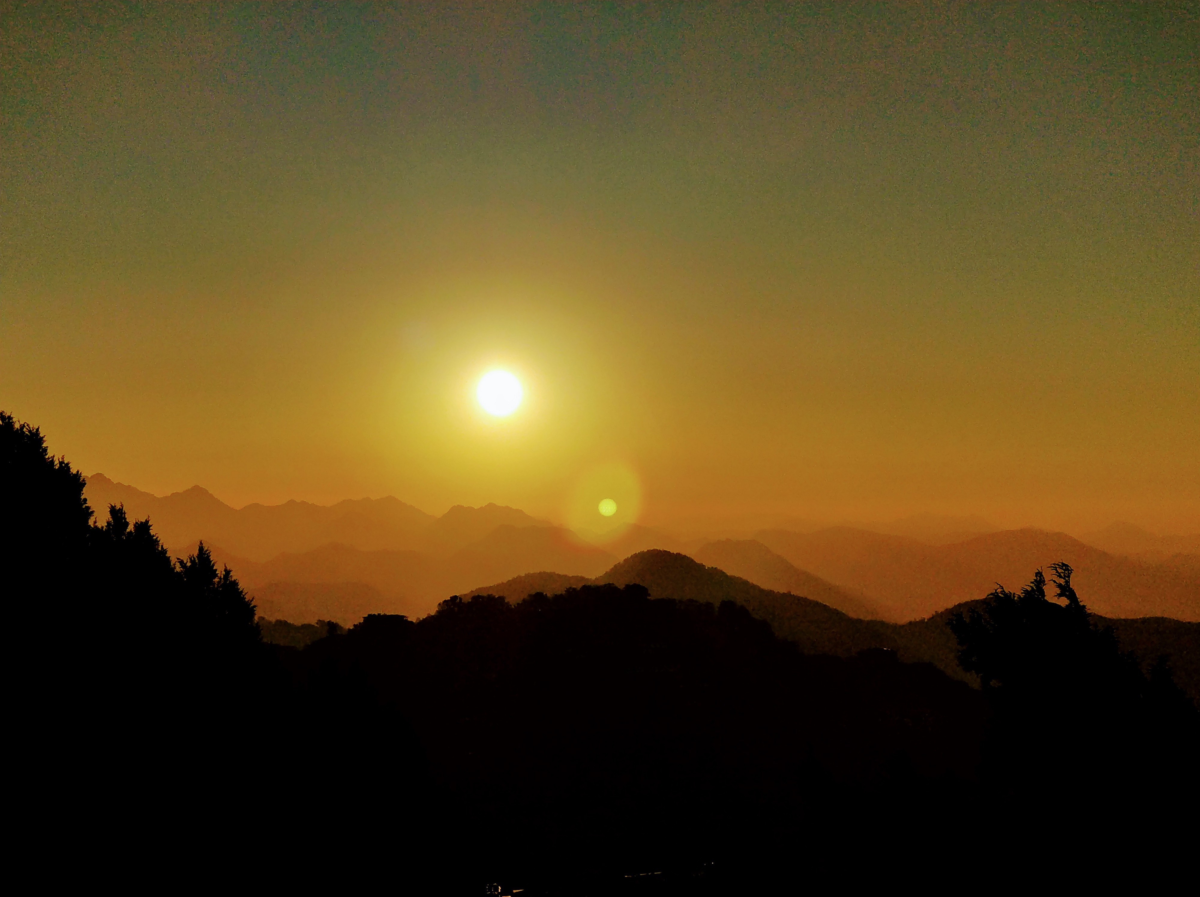 Sunrises among the hills in Mussoorie