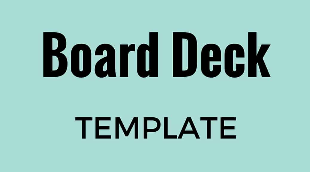 Board deck template for seed stage startups – Alexander Jarvis – Medium