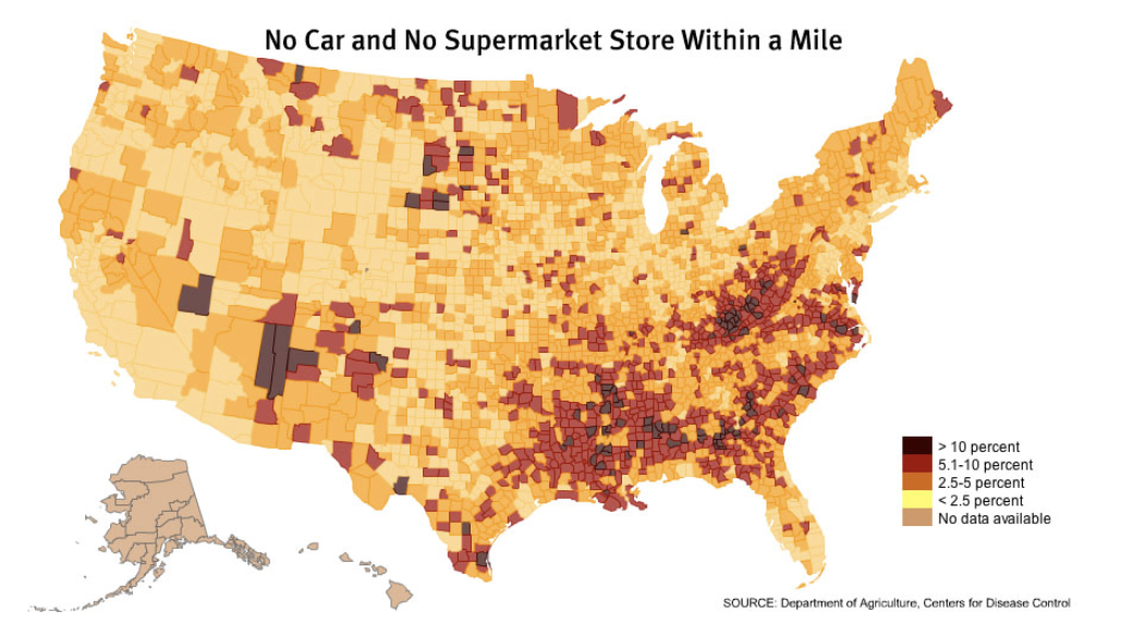 it then dawned on me that my hometown is a literal and figurative food desert