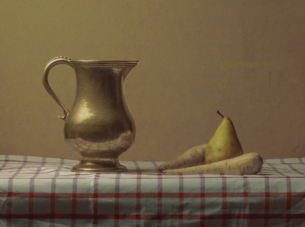 Brass Pot and Pear withTurnips, , by Sean P. Durham, Berlin, 2020