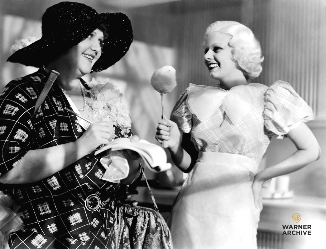 ef508036063 LIFE IMITATES ART  JEAN HARLOW AS JEAN HARLOW IN BOMBSHELL (1933)