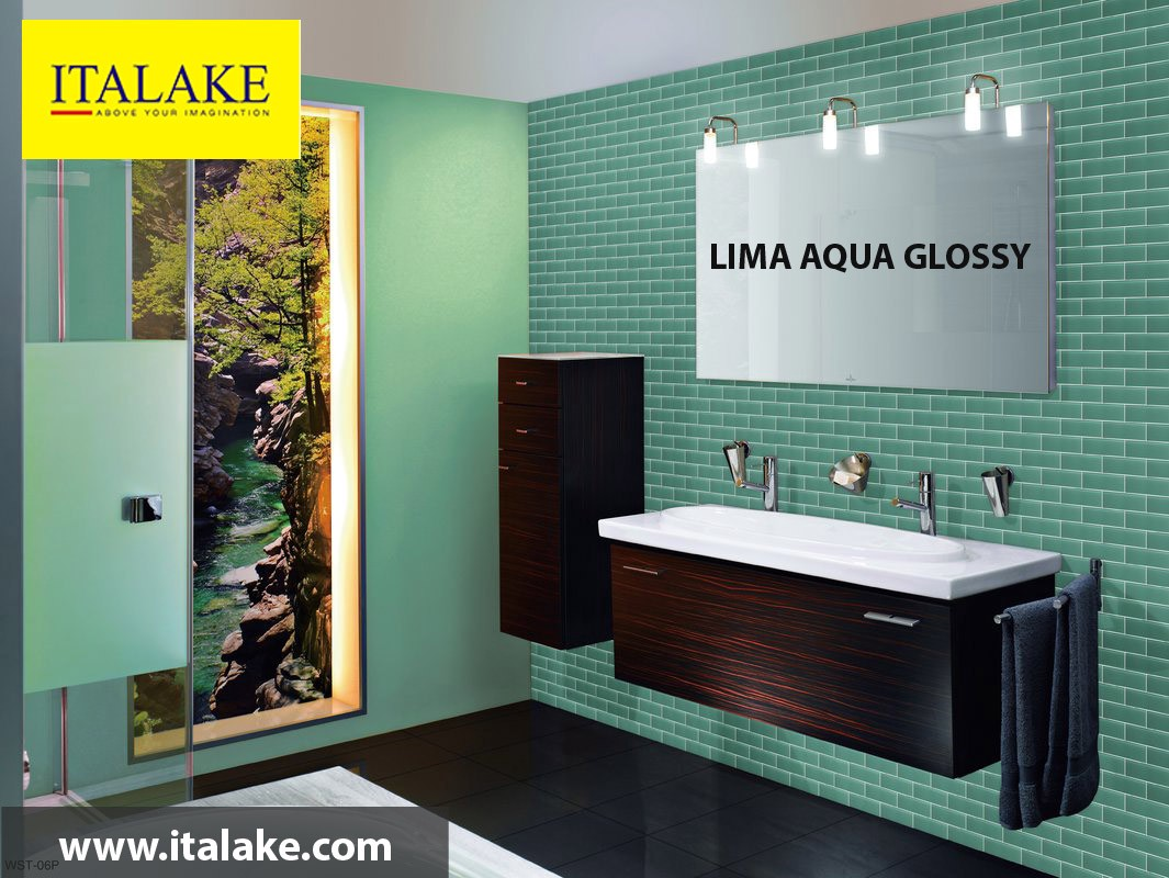 Lima Aqua Glossy Ceramic Digital Wall Tiles Suppliers and ...