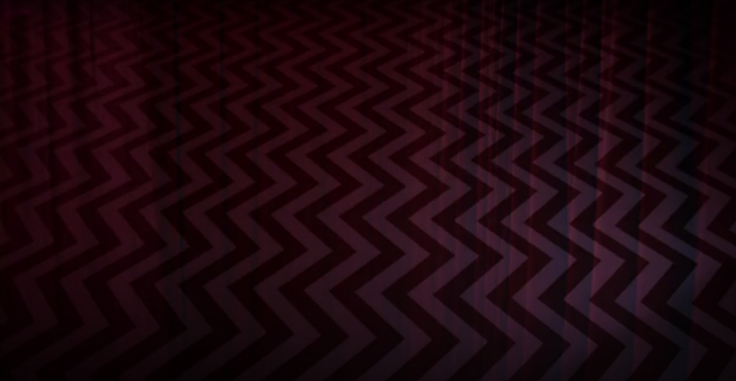 The curtain and chevron together