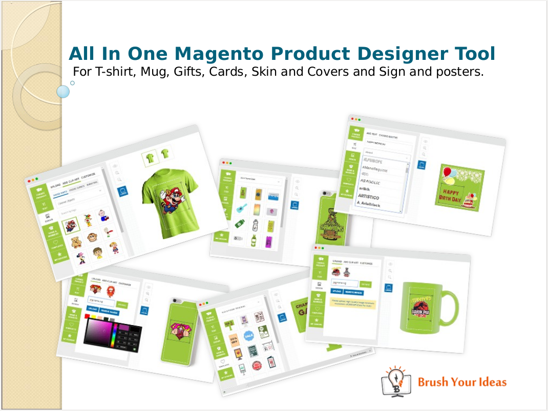 Design t shirt online tool - All In One Magento Product Design Tool For T Shirt Gift Card Sign Covers Skin And Posters
